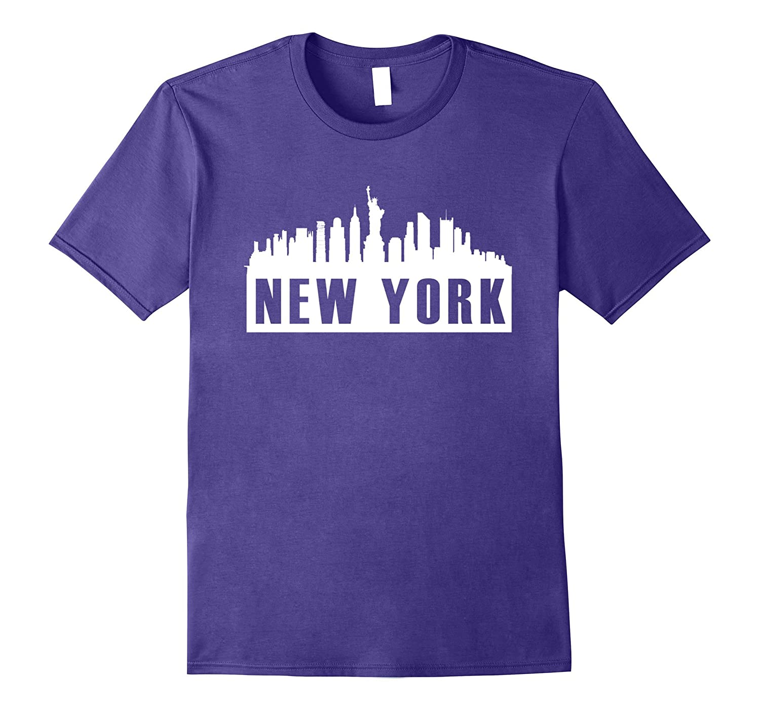 Cool new york city skyline tee shirt statue of liberty for New york city tee shirts