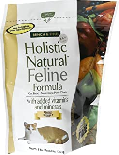 product image for Bench & Field Holistic Natural Feline Formula, Cat Food, 3-Pound Bags (Pack of 3)