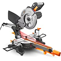 Tacklife 12.5-Amp 4500RPM 8-1/2-in. Compound Sliding Miter Saw