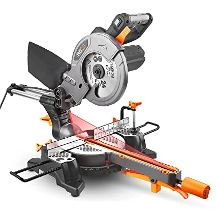 Sliding compound miter saw 8 12 125amp tacklife compound miter sliding compound miter saw 8 12 125amp tacklife greentooth Image collections