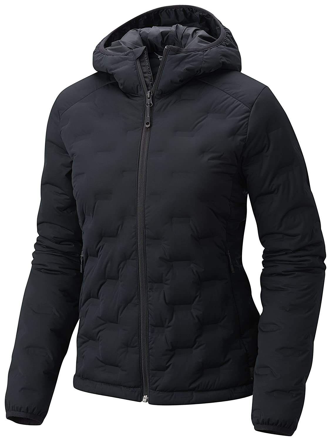 Black XSmall Mountain Hardwear StretchDown DS Hooded Jacket  Women's