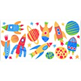 Fun4Walls WS40256 Blast Off Wall Stickers
