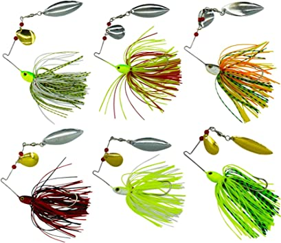 6pack Mixto Wonderfull Color Pesca Duro Spinner Cebos Kit ...