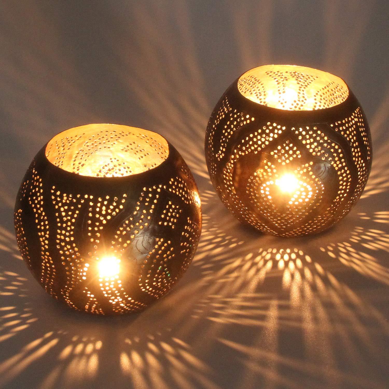 2er Set Amor Orientalische Laternen aus Messing Windlicht Gartenwindlicht Teelichthalter Tischlaterne Messinglaternen f/ür Lichtspiele wie aus 1001 Nacht L1725 Kunsthandwerk aus dem Orient