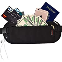 Mebarra RFID Blocking Money Belt Hidden for Travel, Waist Packs under Clothing, Passport Holder fot Women, Men