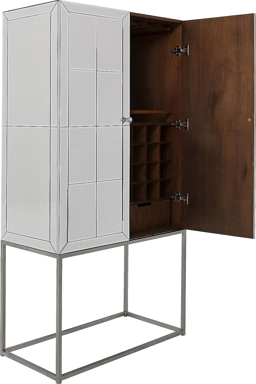 Kare Design Luxury - Armario para bar (acabado en plata), color plateado: Amazon.es: Hogar