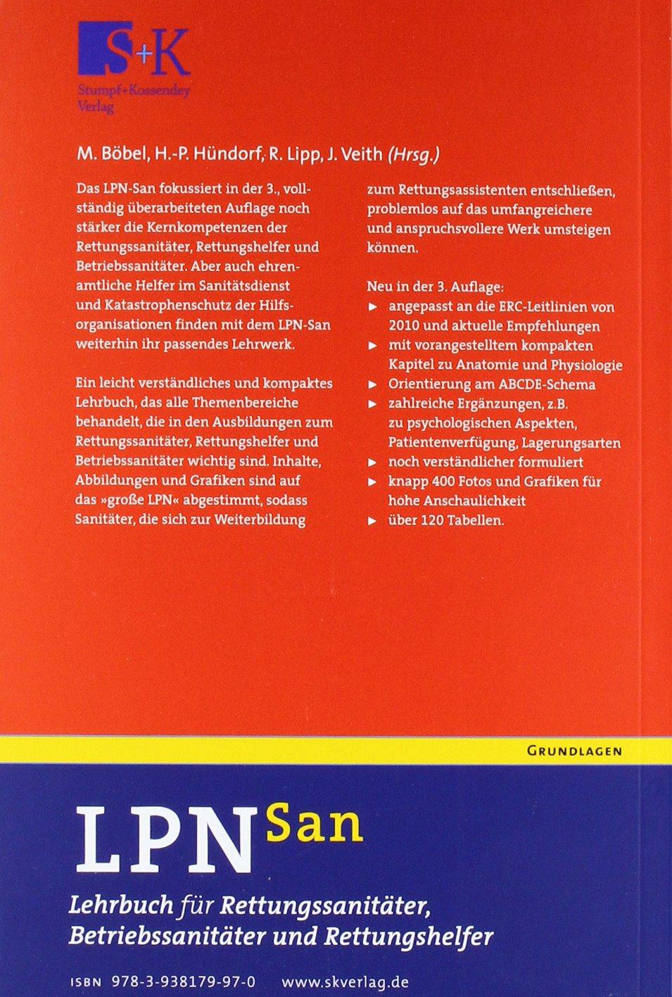 LPN-San: Lehrbuch für Rettungssanitäter, Betriebssanitäter und ... | {Betriebssanitäter logo 80}