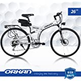 ORKAN Floding E-Bike 7 Speeds Floding Electric Bike 250W Electric Suspension Montain Bike 36V / 1.8A 26''