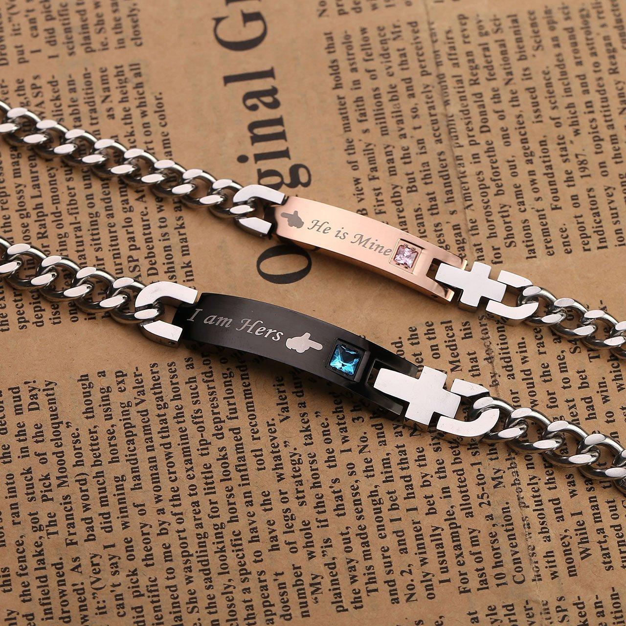 Zysta Bracelet Couple Acier Inoxydable \