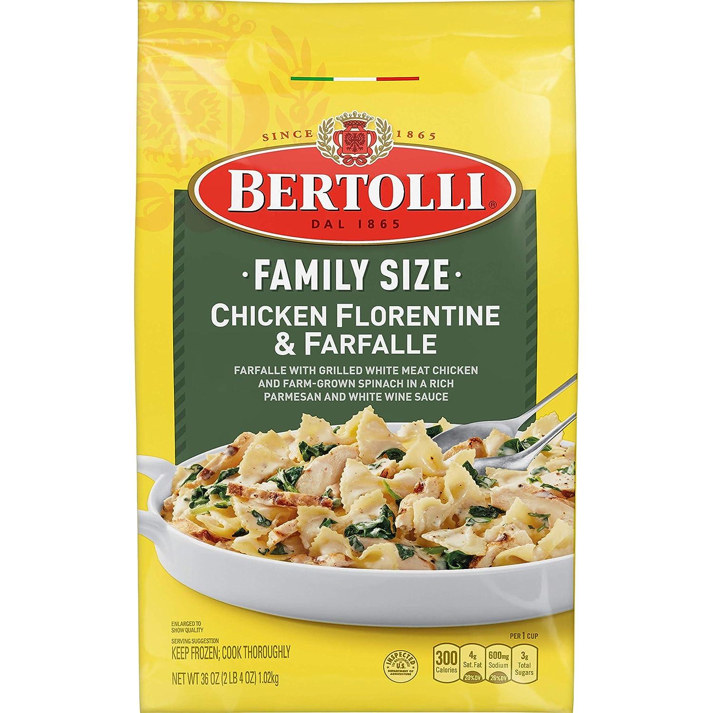 Bertolli Frozen Skillet Meals Family Size Chicken Florentine & Farfalle, 36 Oz