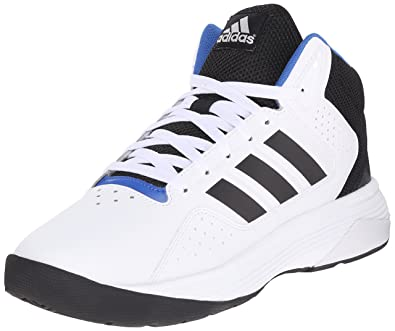 sale retailer ac4a1 0089e adidas NEO Men s Cloudfoam Ilation Mid Basketball Shoe,White Black Metallic  Silver,