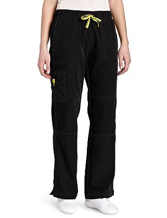 6ef51bc8500 WonderWink Women's Scrubs Four Way Stretch Sporty Cargo Pant, Black, X-Small