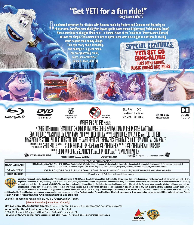 Amazon in: Buy Smallfoot (Blu-ray + DVD) DVD, Blu-ray Online