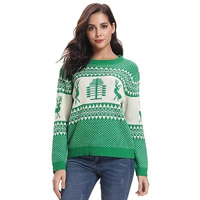Abollria Colección de Navidad-Suéteres Navideños/Sudadera y Jersey de Navidad/Chaqueta de Punto Navideña para Mujer: Ropa y accesorios