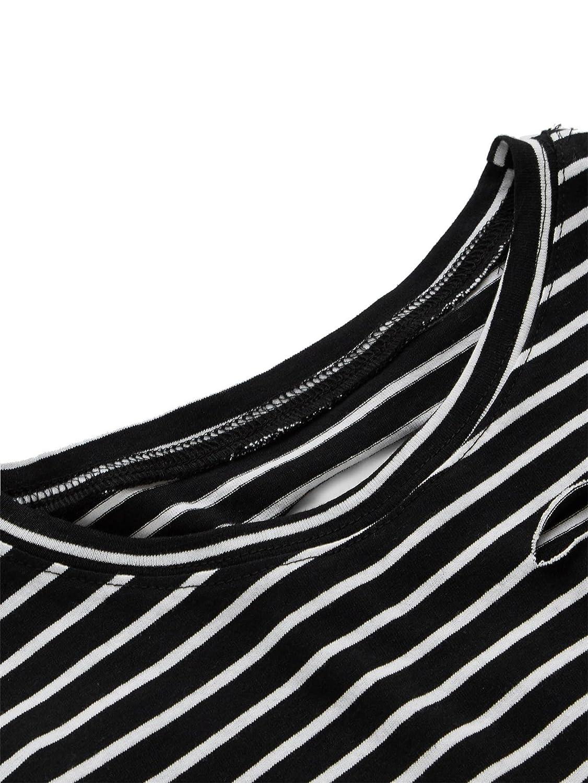936d04b16a8ea SweatyRocks Womens Summer Short Sleeve Tee Distressed Ripped Crop T-Shirt  Tops best Christmas gift