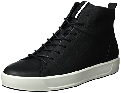 Mens Soft 8 Hi-Top Trainers Ecco eu7KgqjE