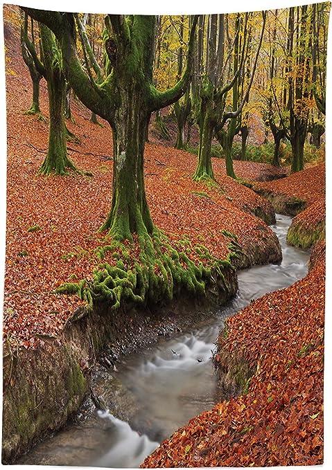 vipsung Granja Casa Decor Mantel Flowing Stream en Colorido de ...