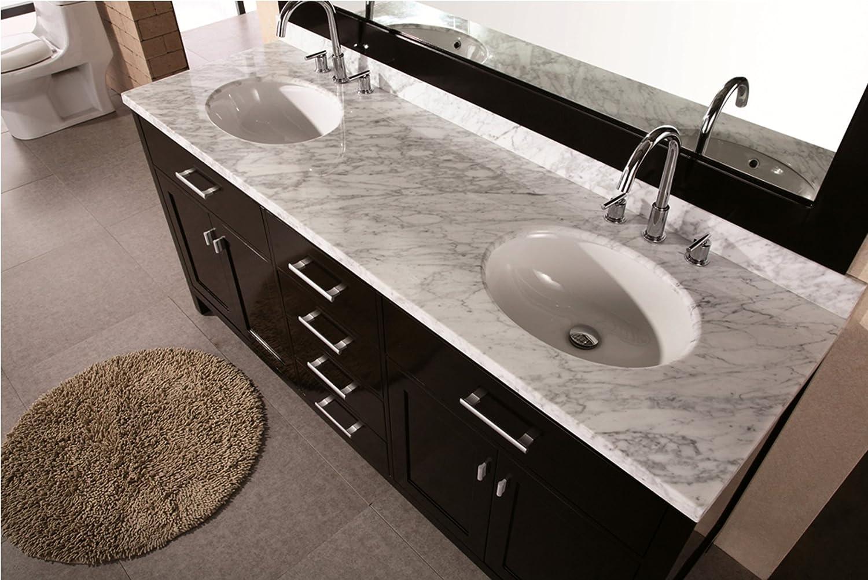 Design Element DEC076B London 72 Inch Double Sink Vanity Set In Espresso  Finish   Bathroom Vanities   Amazon.com