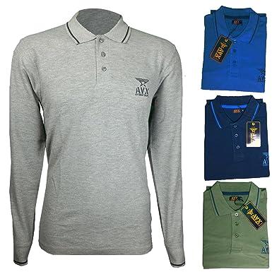 Avirex moda - Polo - para Hombre Azul Claro XXL: Amazon.es: Ropa y ...