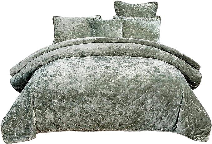 "Luxury Crushed Velvet Neptune Cushion Quality Shimmer Glam Scatter Large 23/""x23/"""