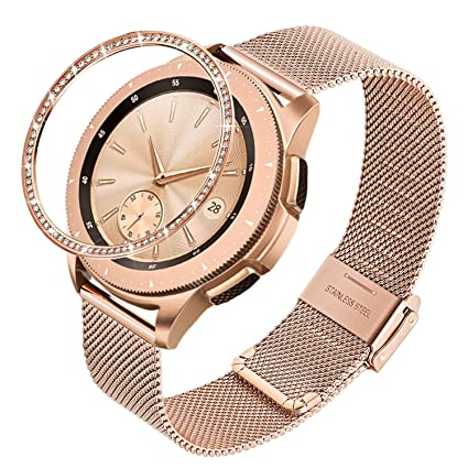 TRUMiRR Reemplazo para Samsung Galaxy Watch 42mm Oro Rosa Correa+ ...