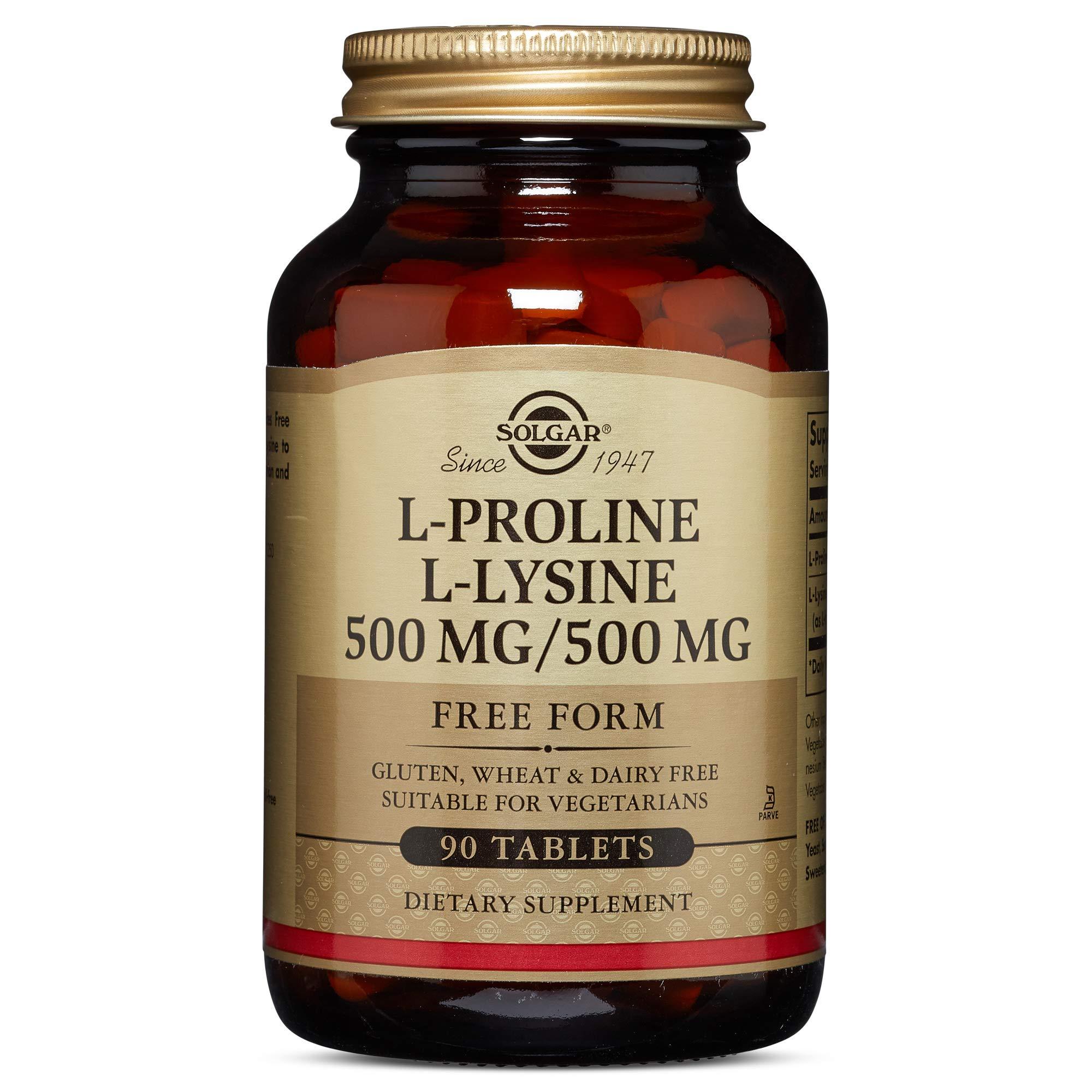 Solgar - L-Proline/L-Lysine (500/500 mg) 90 Tablets by Solgar