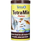 Tetra Tetramin Fish Food Tropical Flakes, Complete Fish Food for All Tropical Fish with Clean and Clear Water Formula, 200 g