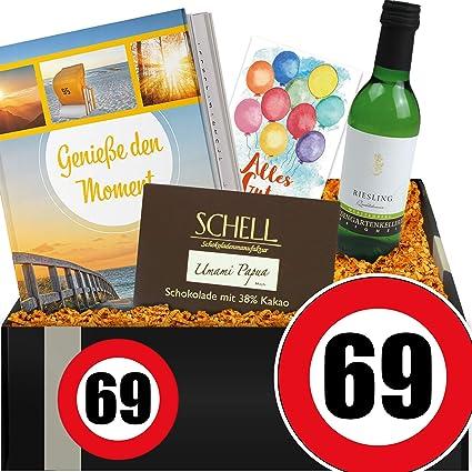 Zahl 69 Geschenkset Genuss Mit Wein 69 Geburtstag Lustige