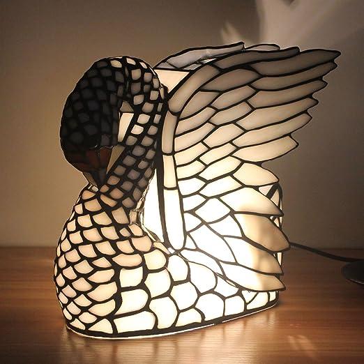 Gweat Europea Creativa Cisne lámpara de Mesa de los niños de luz ...