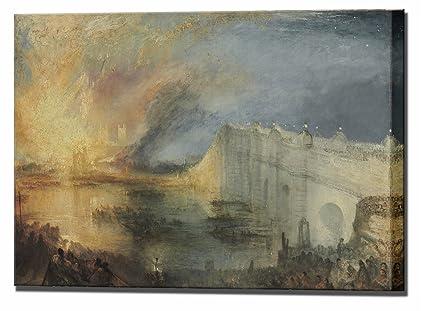 Amazon.com: William Turner Canvas Art Burning of the Houses of ...