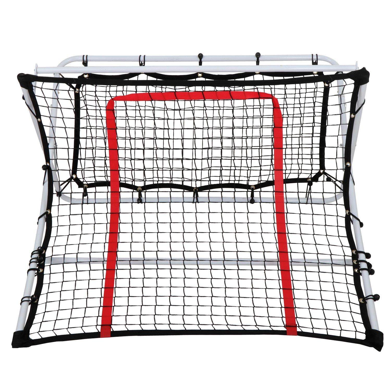 Lemy 2 in 1 x-ramp Soccer Rebounder Netポータブルポップアップサッカー目標スキルトレーナーW /コーンとケース( 44 x 41 x 25インチ B079LG6FDF