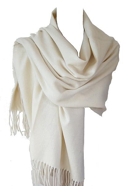 grande vente au rabais emballage fort acheter en ligne Echarpe étole chale en laine et cachemire grande épaisse et chaude  [Vêtements]