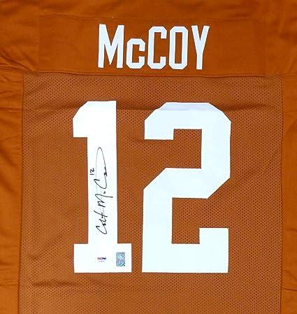 size 40 78e4e 4ab29 Signed Colt McCoy Jersey - Orange Stock #154482 - PSA/DNA ...