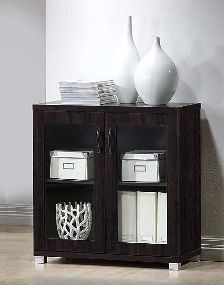 Amazon.com: Wholesale Interiors Zentra Sideboard Storage Cabinet ...