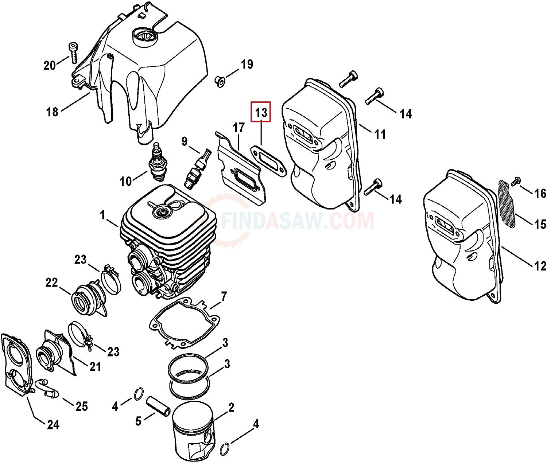 Genuine Stihl TS410 Exhaust Gasket