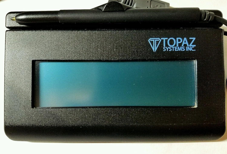 Topaz SignatureGem T-LBK462-HSB-R 1X5 Backlit LCD Signature Capture Pad USB  Connection