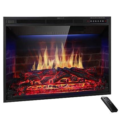 amazon com jamfly 36 electric fireplace insert narrow border rh amazon com 36 wide electric fireplace insert best 36 electric fireplace insert