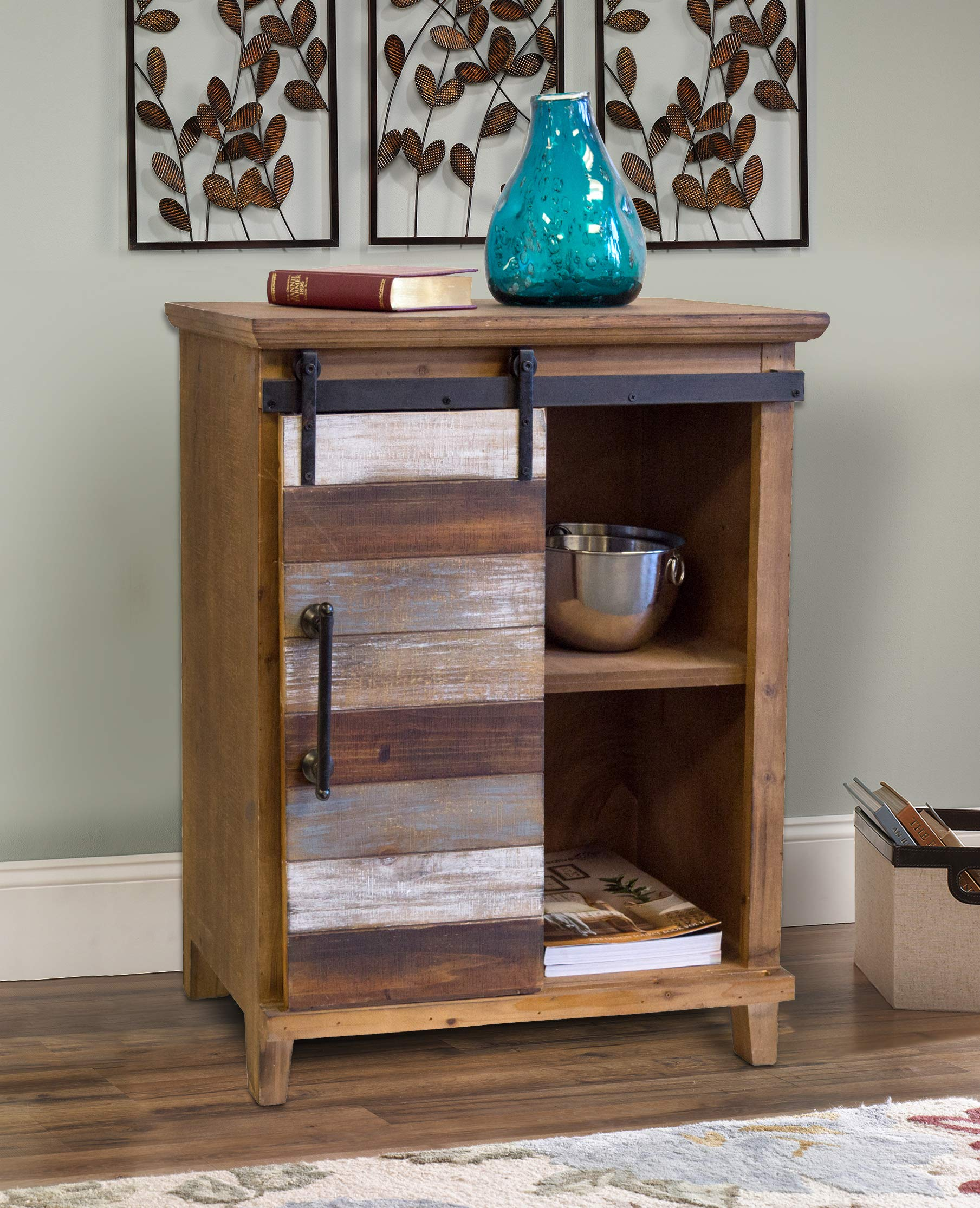 OS Home and Office 475053 Pantry Cabinet, Distressed, Antique Barnwood