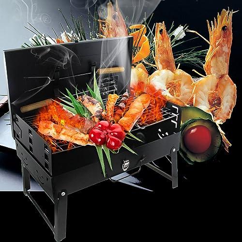 Vinteky® Barbacoas Grill Hornos de Carbón de Leña, Barbacoas de Parrillas para Picnic /