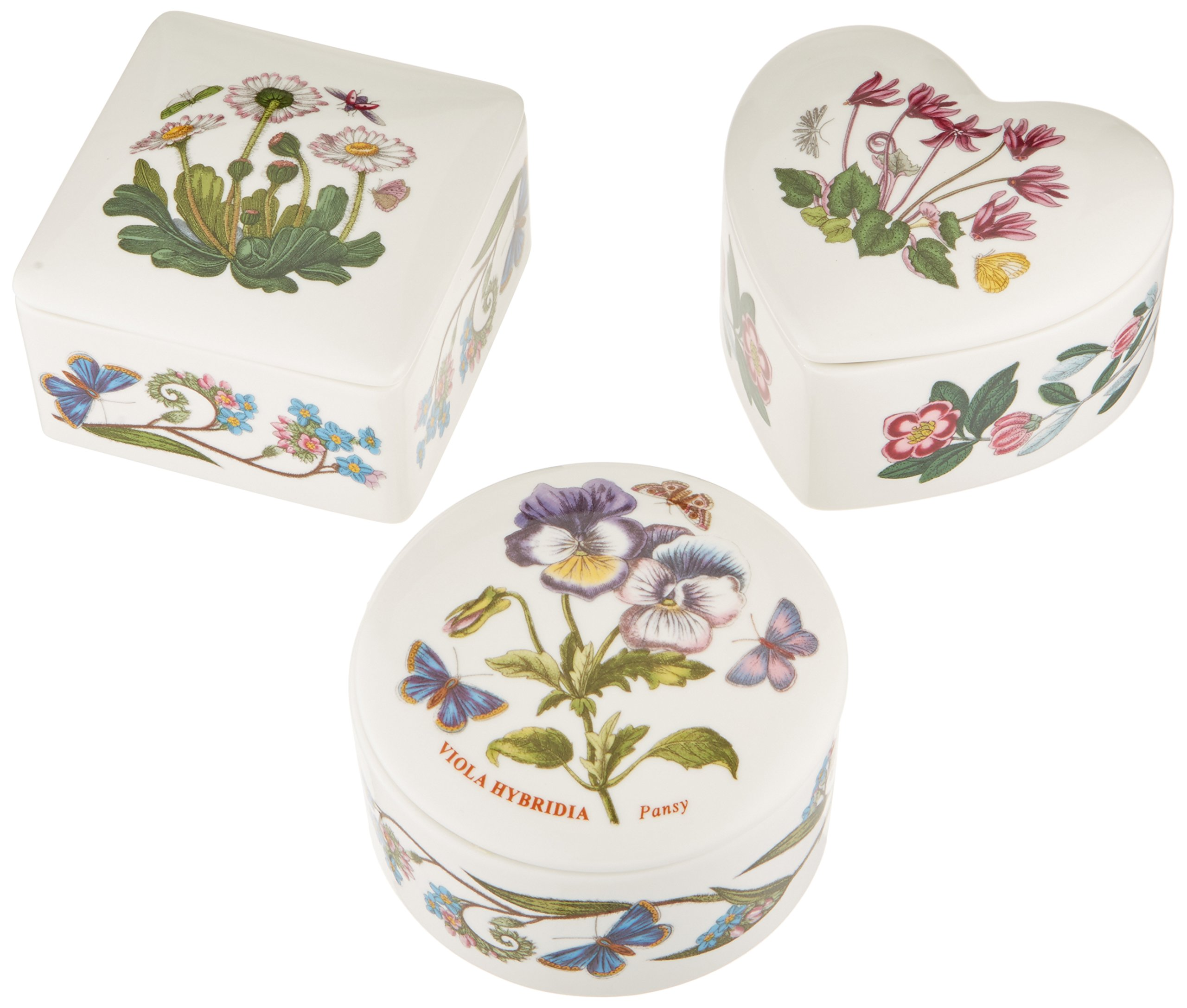 Portmeirion Botanic Garden Covered Boxes, Set of 3