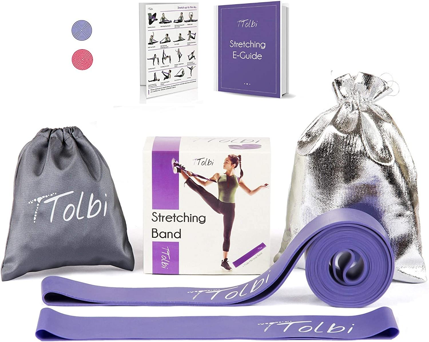 TTolbi Dance Equipment : Stretch Bands for Dancers and Ballet | Dance Stretch Bands for Flexibility, Mobility and Strength | Dance Stuff | Gymnastics Stuff | Dance Accesories : Sports & Outdoors
