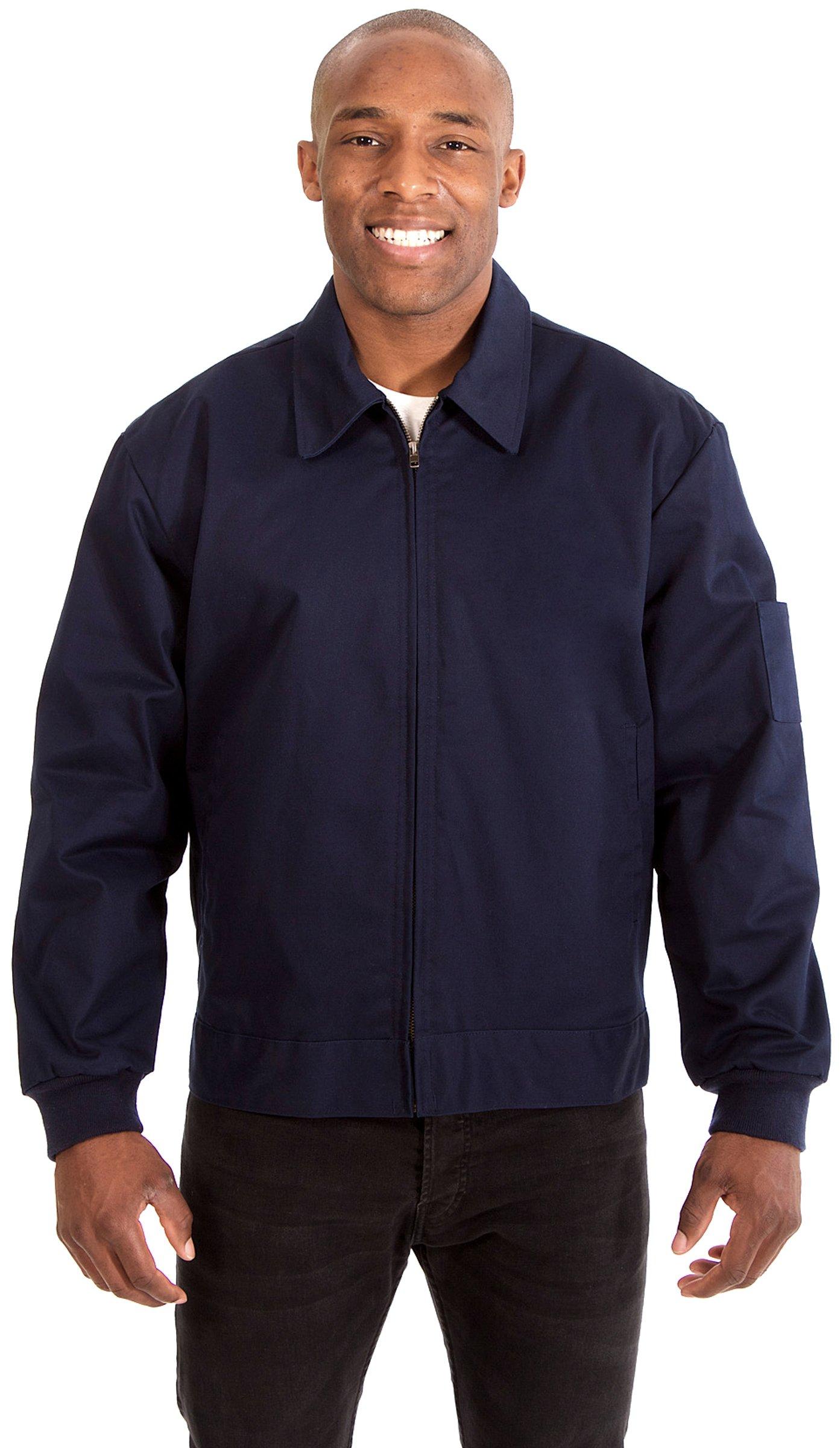 JH Design Men's Mechanics Style Work Jacket (XXL, Navy)