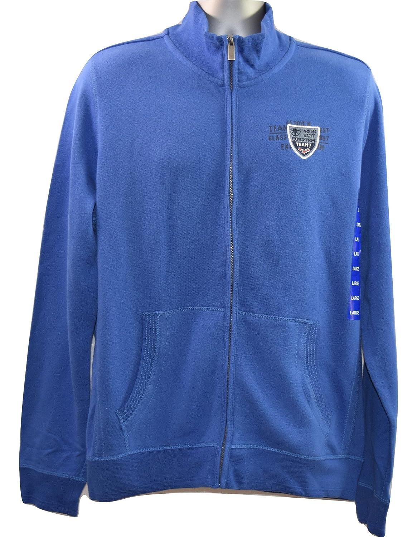 Ridge Point Men's Large Blue Full Zip Up Cardigan Jumper