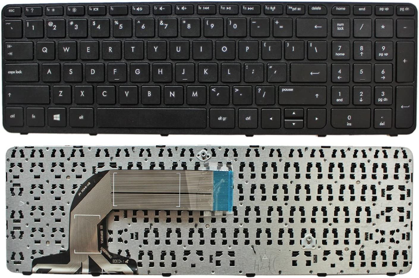 GinTai US Keyboard with Frame Black Replacement for HP Pavilion 17-e110nr 17-e111nr 17-e112dx 17-e046us
