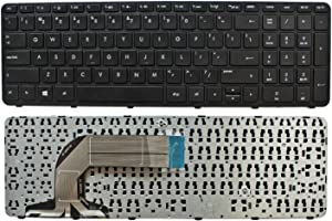 GinTai Laptop US Keyboard with Frame Replacement for HP Pavilion 17-e011nr 17-e016dx 17-e020dx 17-e119wm