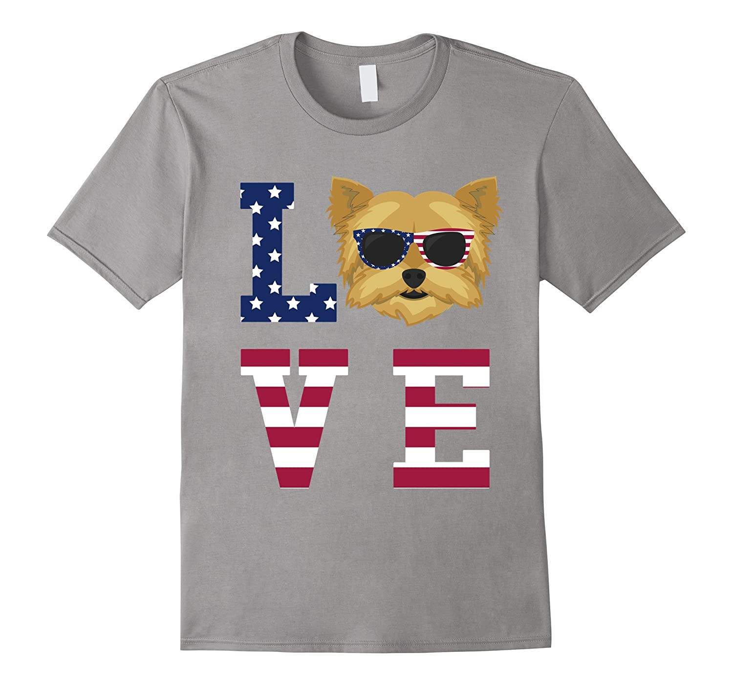 Yorkshire Terrier Yorkie Dog Love - 4th Of July T-Shirt-TH