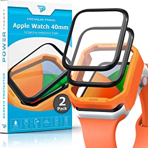 Power Theory Screen Protector for Apple Watch 40mm [2-Pack] with Easy Install Kit, Premium PMMA Protection [NOT GLASS]