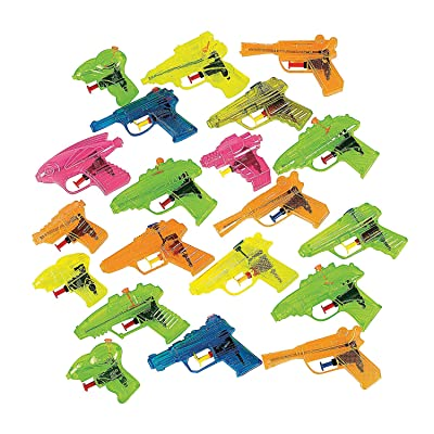 Fun Express - Plastic Squirt Gun Assortment(25pc) - Toys - Active Play - Water Toys - 25 Pieces: Toys & Games