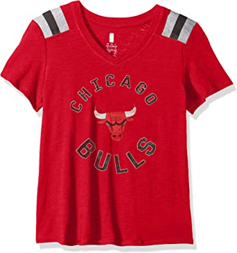 OuterStuff Chicago Bulls Boys Youth Gray Dri Fit Crew Neck T-Shirt