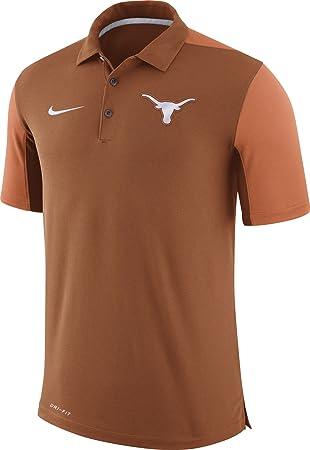 Nike camiseta de fútbol de Texas Longhorns color naranja equipo cuestión Sideline Performance Polo, Anaranjado